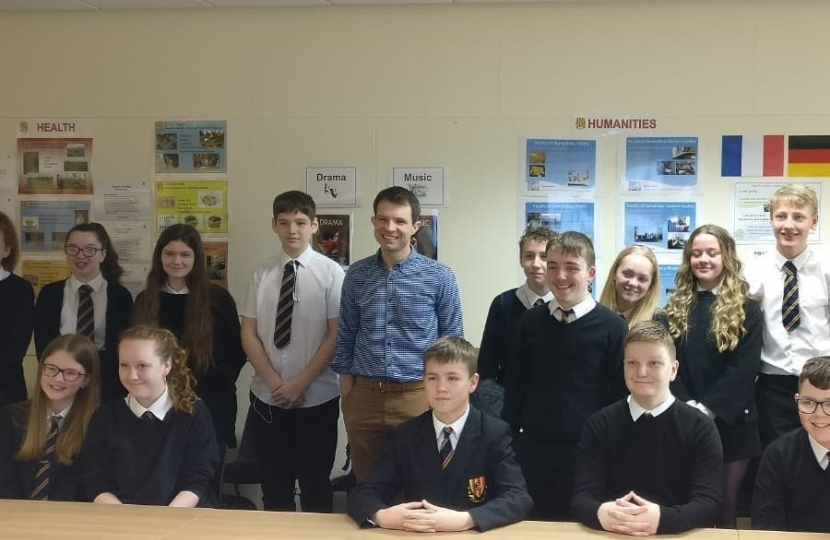 Andrew visits Mackie Academy