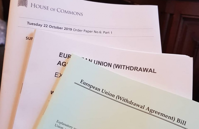 EU Withdrawal Agreement Voted Through